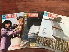 "Vintage Air Force Magazine ""THE AIRMAN"" - April October December 1968"