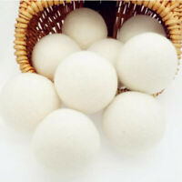 6-Pack Wool Dryer Balls Natural Fabric Virgin Reusable Softener Laundry 5cm Hot