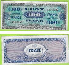 BILLET DE 100 FRANCS VERSO FRANCE - TYPE 1945 SERIE N° 7  VF25/7