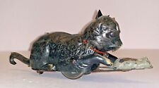 """New listing German Painted Tin Cat & Mouse Novelty Toy Circa 1910""""S"""