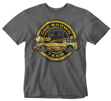 Doc Brown T-shirt Taxi back to the future movie film retro marty mcfly tee sci