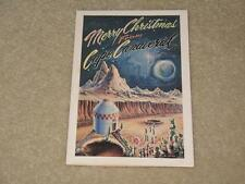 Space Flight/Apollo/Moon Landing/Martian Holiday Christmas Card Cape Canaveral