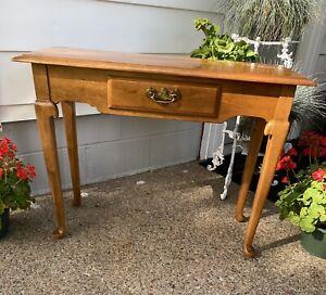 Vintage Ethan Allen Heirloom Maple Console Table #10-9043 Nutmeg Finish 211