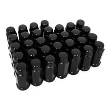 """New listing 32-14x2.0 Cathodic Black 3/4"""" Hex Style Long Conical Lug Nuts 14mmx2.0"""