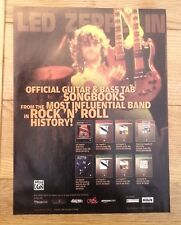 LED ZEPPELIN 'songbooks' UK magazine ADVERT/Poster/clipping 11x8 inches