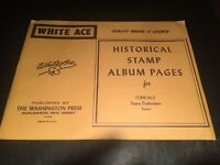 White Ace Stamp Album Supplement - Topicals- Space Exploration - 12- Blank Pages