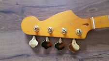BASS NECK 34 inch 21 FRET GOLD COLOR  MACHINE LOADED