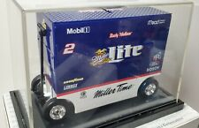COOL 1998 ACTION 1/16 RUSTY WALLACE MILLER LITE PIT WAGON BANK WITH DISPLAY CASE