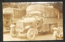 carte photo - ancien camion militaire  - K. Montag. Photograh. Bitsch,