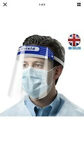 2 X full face visor Face Shield UK Stock Cleanable and Reusable