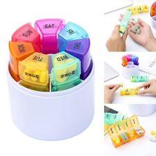 Weekly 7 Day Pop Up Pill Box Medicine Tablets Storage Organiser Dispenser Holder
