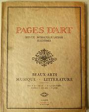 Pages d 'Art de mayo de 1915, pages d' Art de mayo, pages d 'Art Geneve, arte, naturaleza,