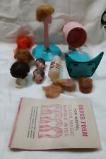 1960'S Barbie Color N' Curl Set, Dryer, 2 Wig Heads, Wigs, Stands, Bottle, Book