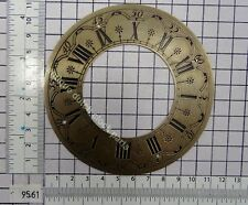 USED BRASS DIAL FOR ZAANDAM OR ZAANSE CLOCK HUBERT HERR 11 CM ACROSS