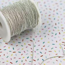 5m x 1.5mm iron ball bead chain gold / silver + chain connectors
