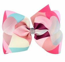 Jojo Siwa 6 Inches Triangle Ombre Roll Color Ribbon Hair Bow -TRIANGLE PINK