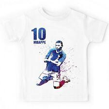 tee shirt t shirt tshirt blanc foot champion du monde mbappé m bappé 3 4 ans