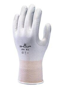Showa Gloves SHO370-M No.370 Palm Fit Glove, Size  M, White Grey