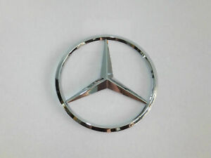 New  Mercedes Benz Chrome Star Trunk Emblem Badge 90mm - Free US Shipping
