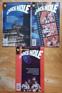 Black Hole #1,  2,  3   1980  whitman comic . 3 comic books