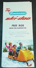 RARE VINTAGE 1965 SKI-DOO SNOWMOBILE TRI-FOLD SALES BROCHURE  (444)
