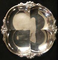 Vintage International Deep Silver Silver Plate Empress Pattern Serving Tray