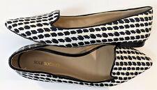 Sole Society Women's Harla Black whtie textured Flats size 7.5M