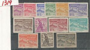 z1319 BOLIVIA Sc 378-383, C169-C175 MNH Revolution Abril 1st Anniv. 1953