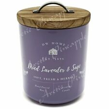 DW Home 8.5oz Medium Single Wick Candle Jar 33 Hour - Dried Lavender & Sage