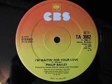 "PHILIP BAILEY-I'M WAITING FOR YOUR LOVE. ORIGINAL DISCO/SOUL/FUNK 12"" SINGLE"