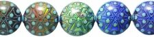 Shipwreck Beads Mirage Polymer Color Change Stargazer Disc Mood Beads, 22mm, 2