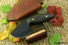 1095 High Carbon Steel Skinning Hunting Knife,G-10 Micarta Handle,No Damascus(C