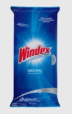 28 pk WINDEX Original GLASS & Surface Wipes Mirrors Multi Use Cleans STREAK FREE