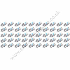 50 x Blue 5v 10mm T10 Wedge Base LED Bulbs for Arcade Push Buttons - MAME