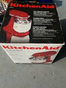 KitchenAid Ice Cream Maker Stand Mixer Attachment KICA0WH New Never Used