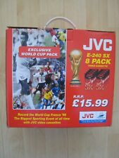 World Cup France 98 JVC 8 Pack Video Cassettes