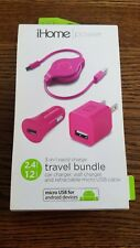 $39.98 Ihome travel bundle for android devices car & wall charge s1