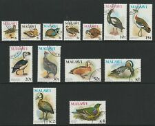 Malawi 1975 QEII Birds Complete set SG 473-485 Fine used.