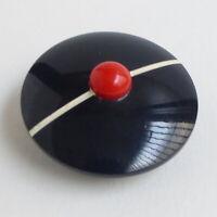 Bouton ancien - Chapeau Béret - 30 mm - XXe - Plastic Hat Button