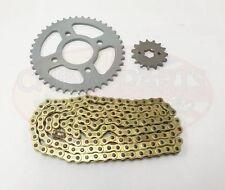 JIANSHE JS125-6A Heavy Duty Chain and Sprocket Kit GOLD