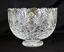 """Large Waterford 9""""D Master Cutters Heirloom Centerpiece Footed Crystal Bowl"""