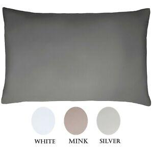 Sleepdown 100% Cotton Sateen 300 Thread Count Housewife Pillowcase Pair