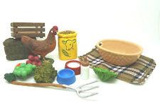 x4) Schleich Ensemble AGRICOLE poulet avec accessoires ferme zoo Animaux