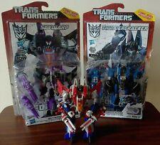 Transformers Fall of Cybertron Generations SKYWARP STARSCREAM THUNDERCRACKER