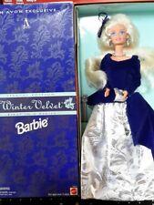 An Avon Exclusive Winter Velvet Barbie blonde/blue 1995 15571 Mib Nrfb Big Sale