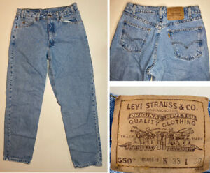Vtg Levis 505 Orange Tab Relaxed Fit 33 X 30 (Actual 32x30) Blue Jeans Made USA