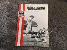 More details for sunderland v carlisle united anglo scottish cup 1975