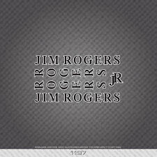 01197 Jim Rogers Bicyclette Autocollants-Decals-Transfers