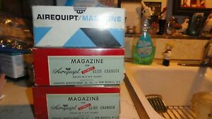 Lot of  3 Vintage Airequipt  Slide Projector Magazines in original boxes