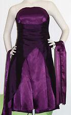 Juju &Christine Abendkleid Cocktailkleid XS 34 36 lila Wickeloptik Stola Abiball